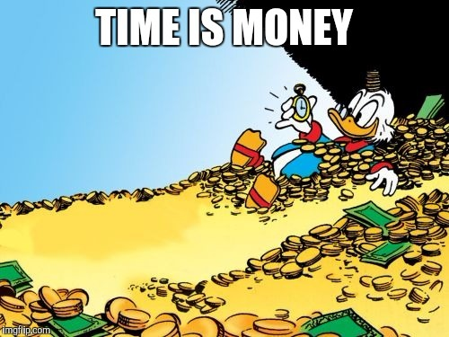 Time is money scrooge mcduck