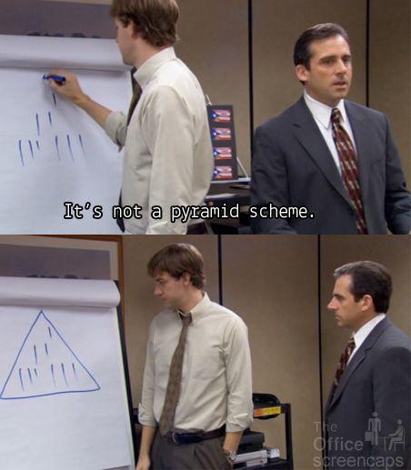 Ce n'est pas une pyramide de Ponzi
